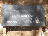 Kaba Márton emléktáblája a Yad Vashemben