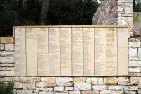 Szontágh Béláné az Igazak Falán a Yad Vashemben